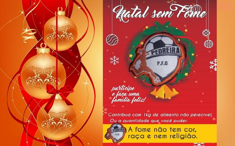 1ª Campanha 'Natal sem Fome' é promovida pelo time Pedreira FC em Paraíso-TO