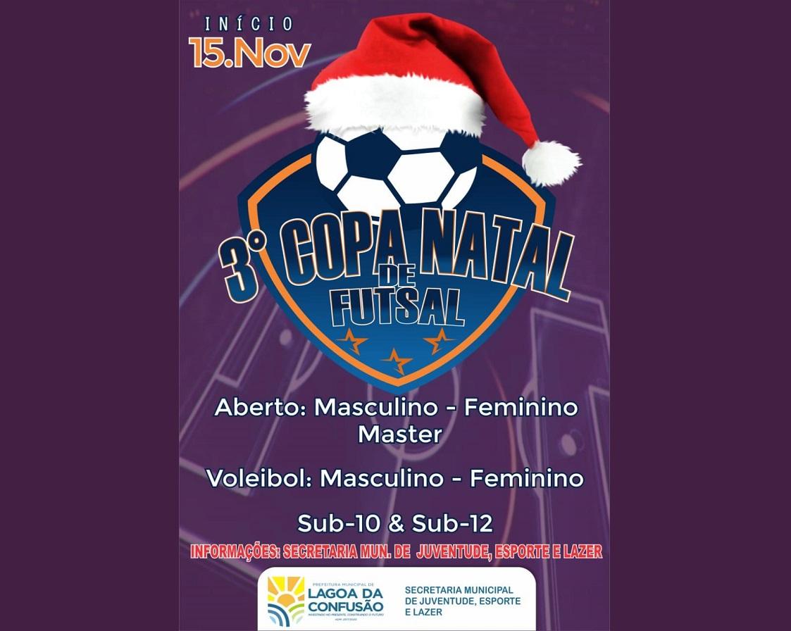 Prefeitura de Lagoa da Confusão promove a 3ª edição da Copa Natal de Futsal
