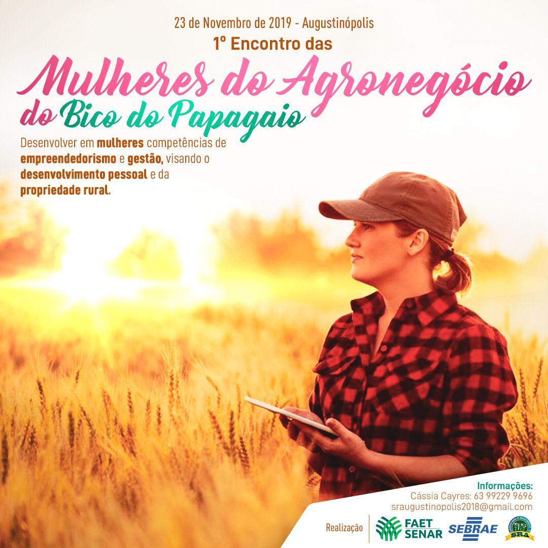 Augustinópolis receberá 1º Encontro de Mulheres do Agronegócio do Bico do Papagaio