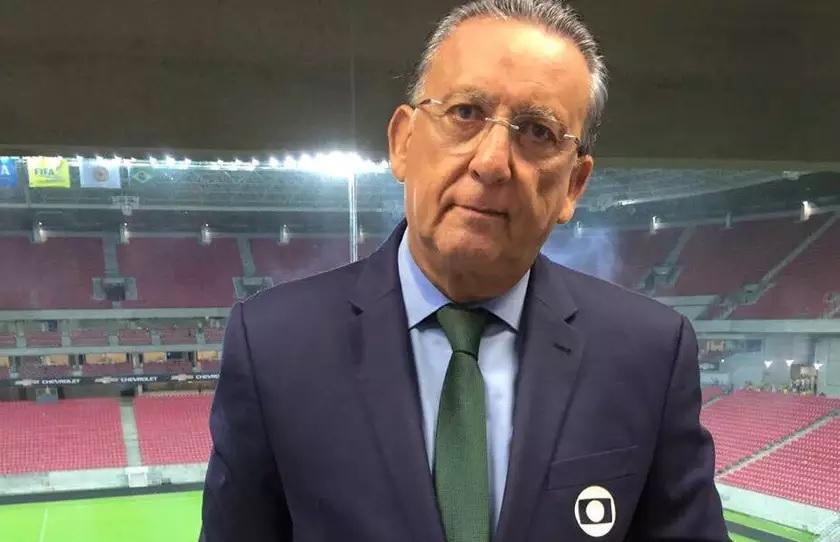 Galvão Bueno é submetido a cateterismo e será substituído por Luis Roberto na narração da final da Libertadores
