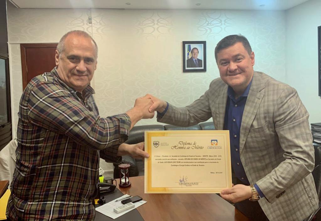 Saúde (TO) recebe reconhecimento da Sociedade de Cardiologia pelos avanços na área