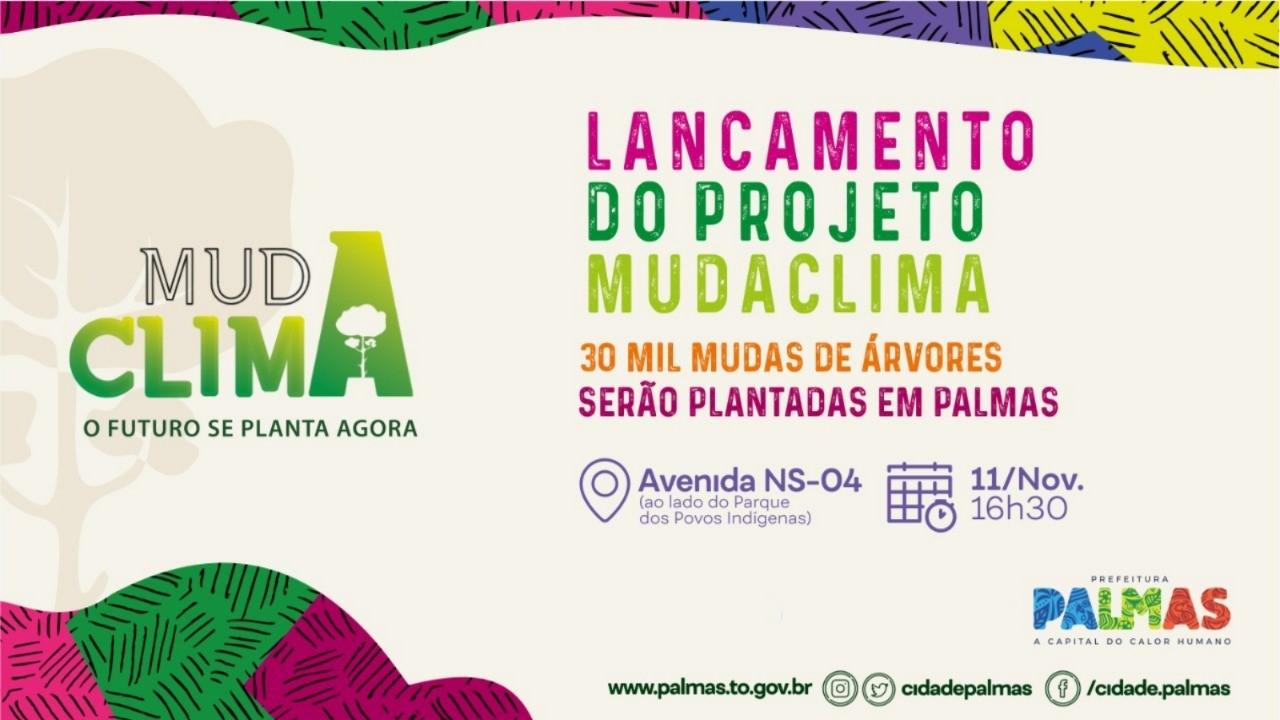 Prefeita Cinthia lança na NS-04 programa Muda Clima com homenagem a J. Bulhões