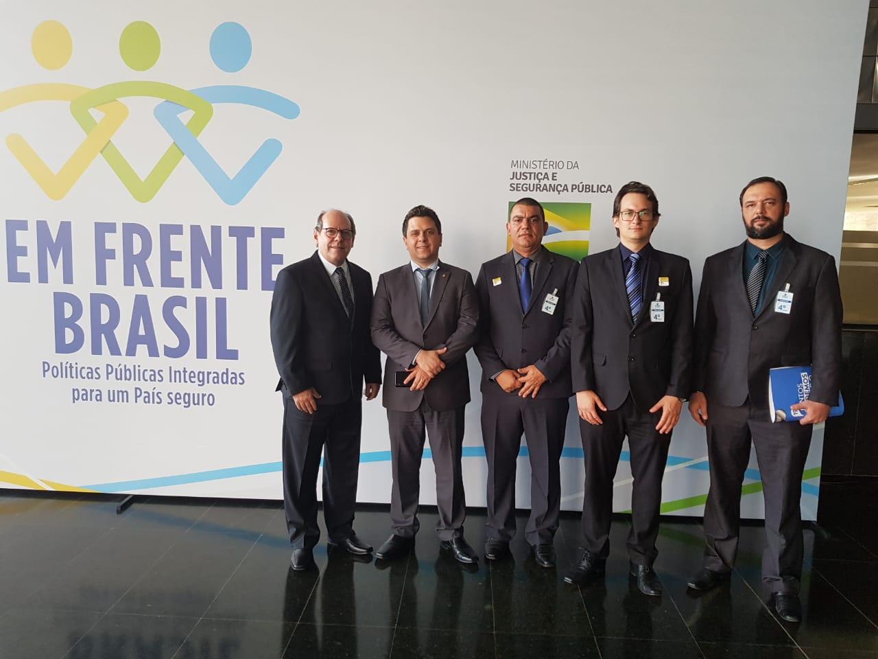 Com objetivo de agilizar implantação da Guarda Municipal, Tiago Dimas e Ronaldo Dimas participam de reunião no Ministério da Justiça
