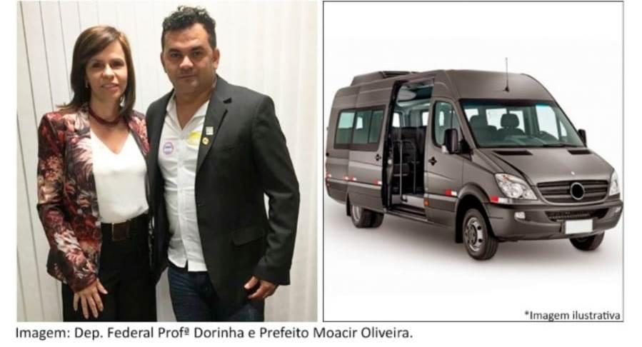 Prefeitura de Rio dos Bois recebe emenda parlamentar para aquisição de van para transporte de pacientes