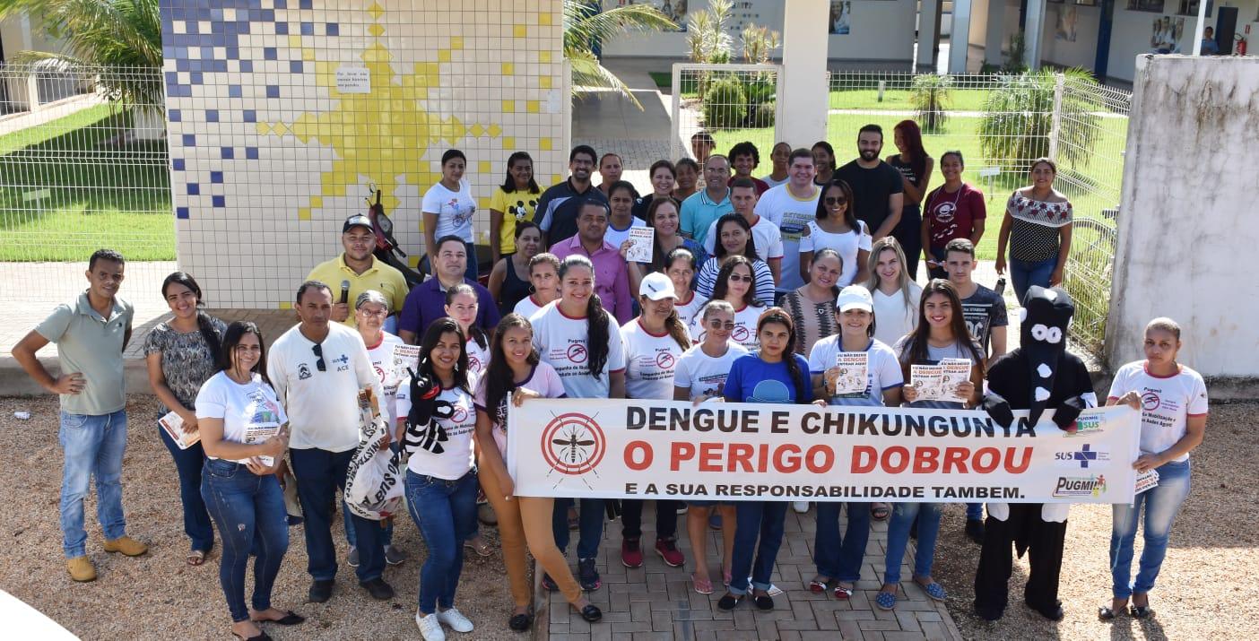 Secretaria de Saúde realiza caminhada de prevenção e combate a dengue, zika e chikungunya