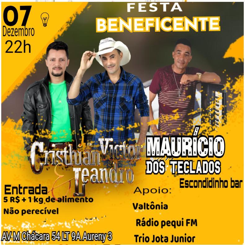 Cristhian Victor & Leandro e Maurício dos Teclados realizam 'Festa Beneficente' como gesto de solidariedade em Palmas
