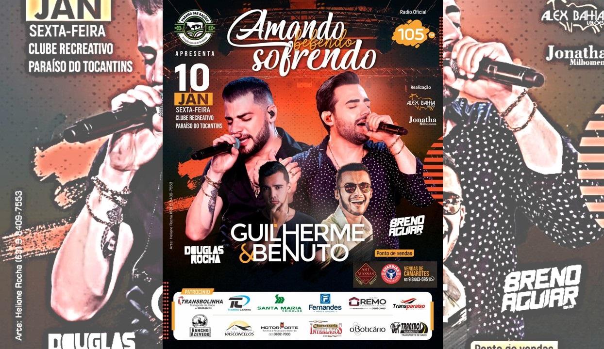 Dupla Guilherme & Benuto se apresenta em Paraíso do Tocantins no dia 10 de janeiro