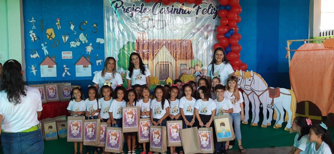 Creche Criança Feliz realiza encerramento do projeto 'Casinha Feliz' em Tabocão