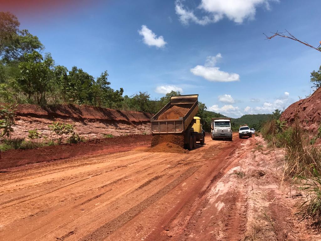 Governo realiza recuperação de trecho da TO-262 entre Silvanópolis e Pindorama