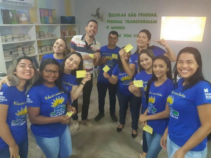 Educadores da Escola Raio de Sol, em Paraíso, participam do Workshop de Criatividade