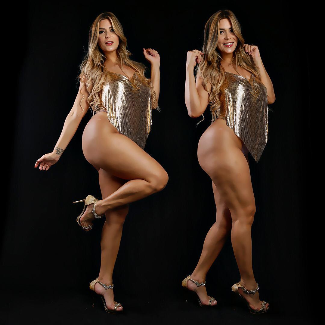 Modelo da Revista Sexy e musa do Vasco Jhenni Giovanelli exibe corpão apenas dois meses após ser mãe