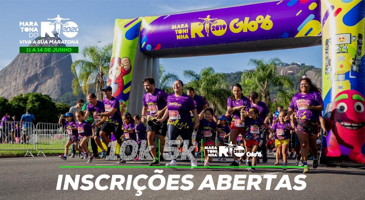 Maratona do Rio abre inscrições para corridas de 10k, 5k e Maratoninha Gloob