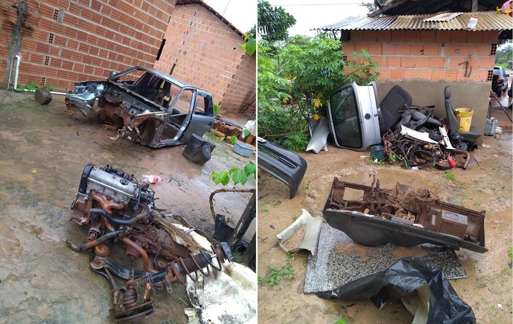 Polícia Civil fecha oficina mecânica que funcionava como desmanche clandestino de carros em Araguaina