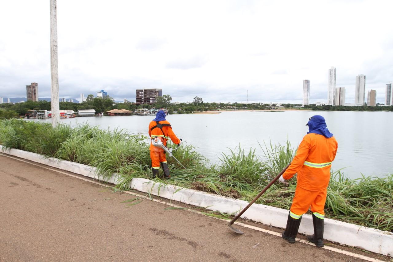 Governo inicia serviços de roçagem e sinalização viária na Ponte Fernando Henrique Cardoso