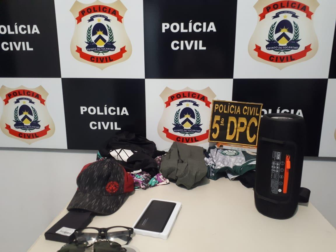 Polícia Civil prende em flagrante dois homens suspeitos de furtar equipamentos eletrônicos em Taquaralto