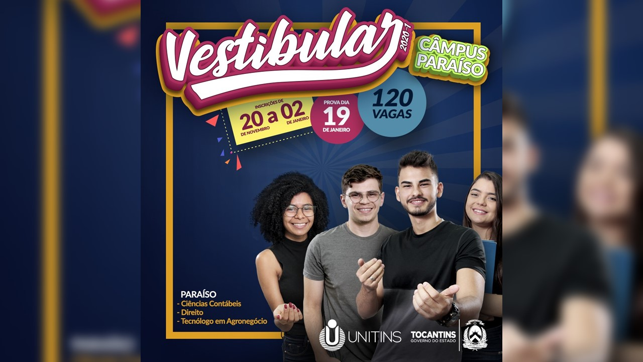Provas do Vestibular 2020/1 do Câmpus Paraíso acontecem neste domingo