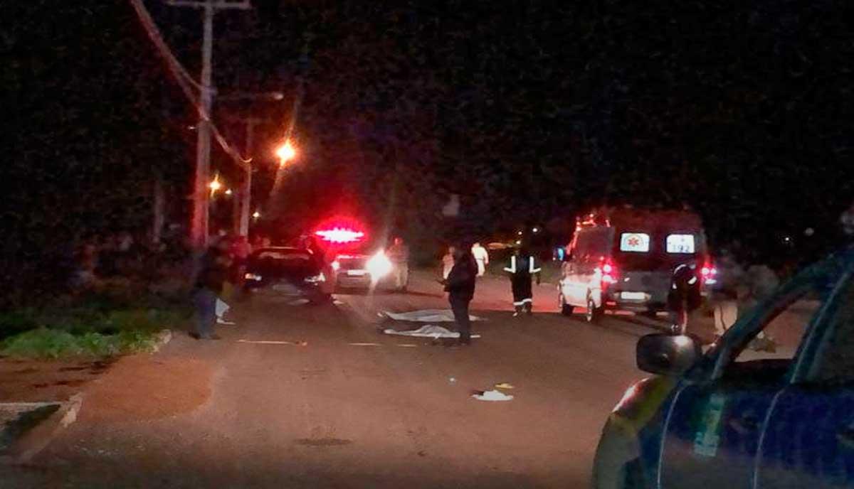 Motorista atropela quatro pessoas em Luzimangues; mulher e criança morreram