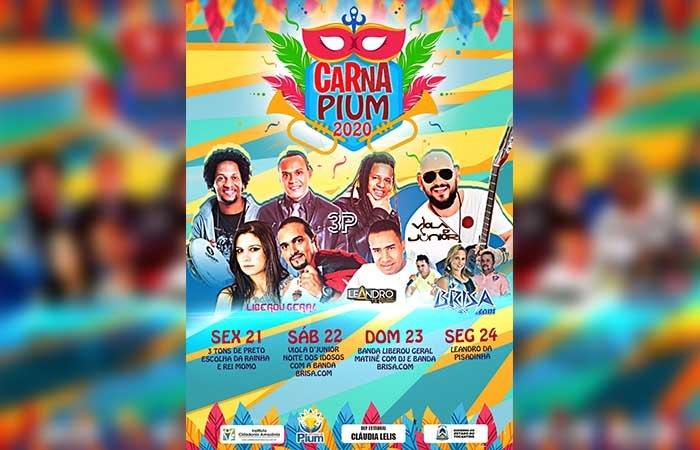 Carnaval de Pium promete agitar o Vale do Araguaia com quatro dias de festa
