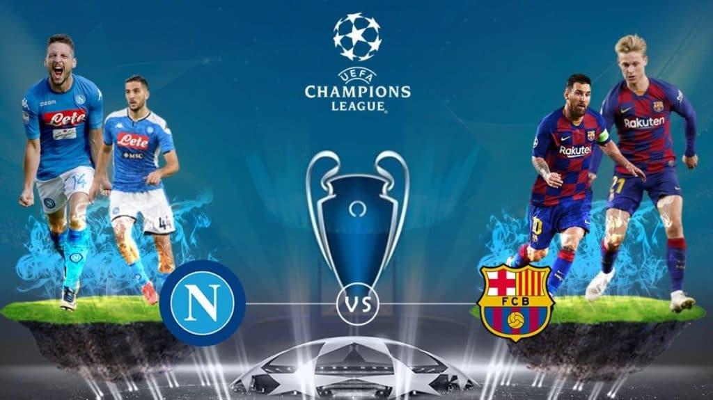 Ao vivo: Napoli x Barcelona se enfrentam pela Champions League