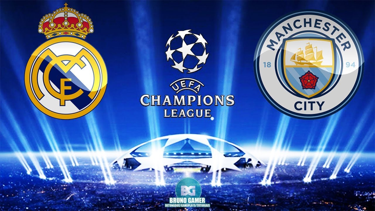 Assista AO VIVO Real Madrid x Manchester City nas oitavas de final da Champions League