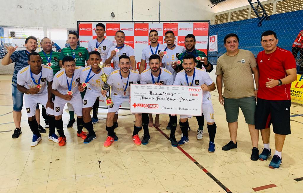 Katrina é campeão do 1º Torneio Solidário de Futsal da Farmácia Preço Baixo de Paraíso