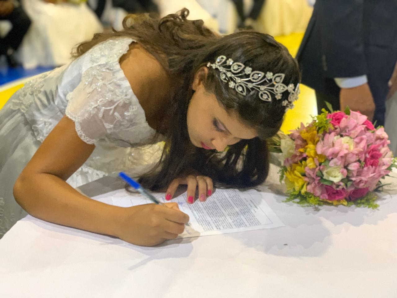 58 casais participam de casamento comunitário em Lagoa da Confusão