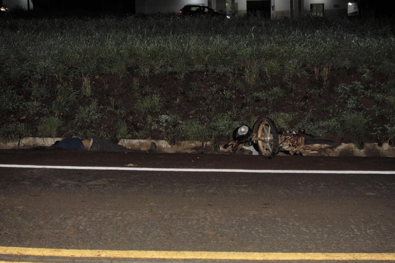 Motociclista morre em acidente no perímetro urbano da BR-153, em Paraíso