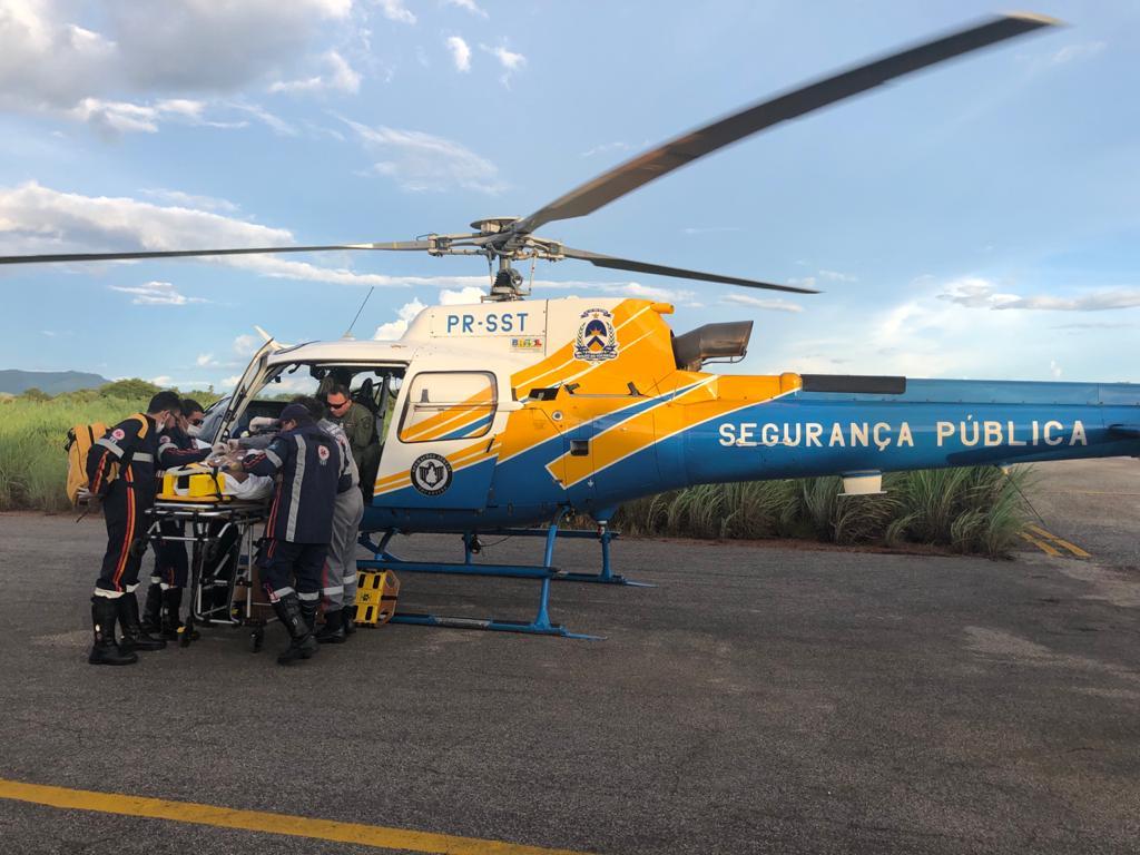 Aeronave da Segurança Pública realiza mais um voo pela vida, em Porto Nacional