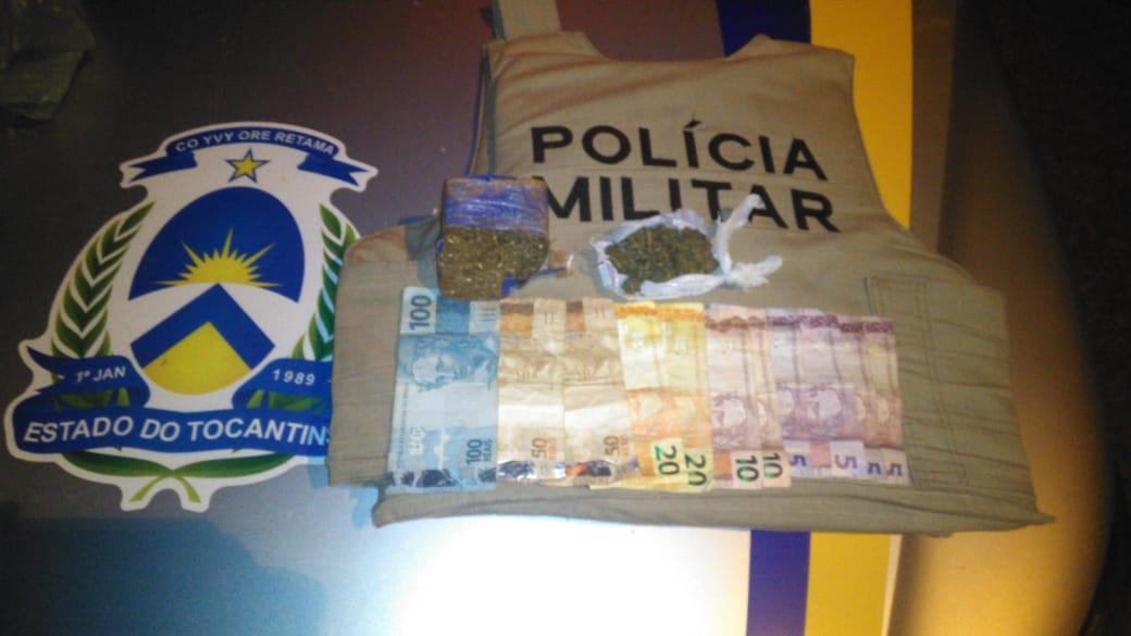 Policiais Militares prendem homem por tráfico de drogas em Dois Irmãos-TO