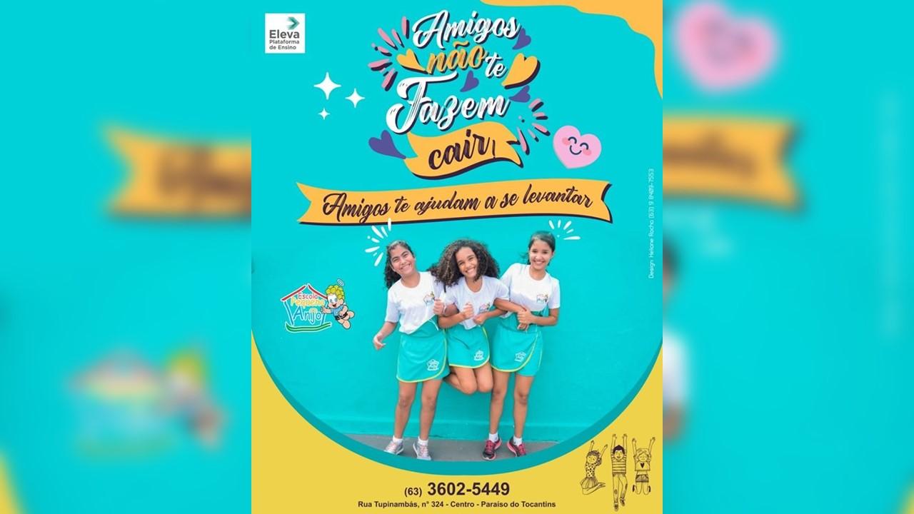 Escola Pequeno Anjo promove campanha contra o 'desafio da rasteira' em Paraíso