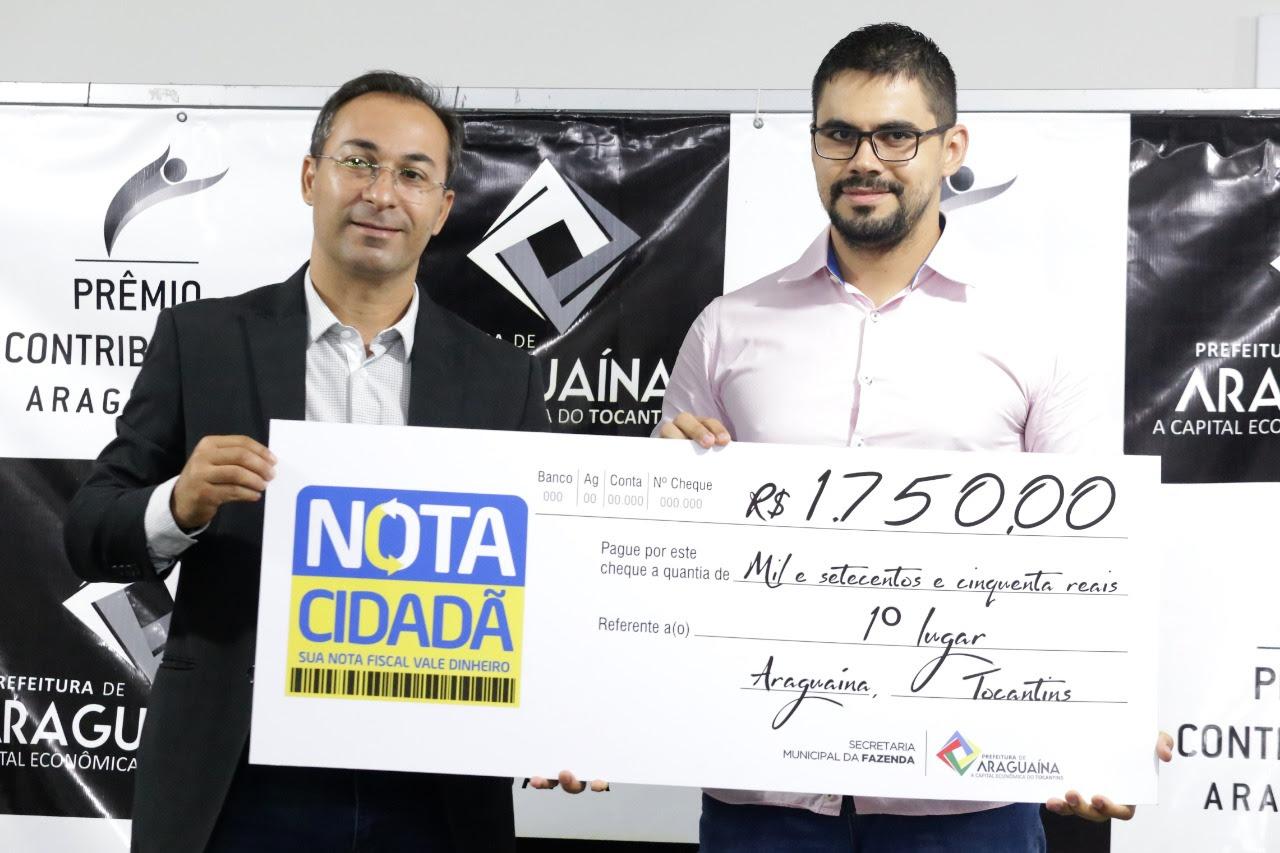 Nota Cidadã de Araguaína já tem 16 prêmios entregues de quase R$ 9 mil