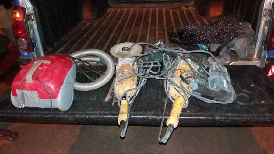 Homem é preso ao ser flagrado pela PM fugindo com objetos furtados de marmoraria em Palmas