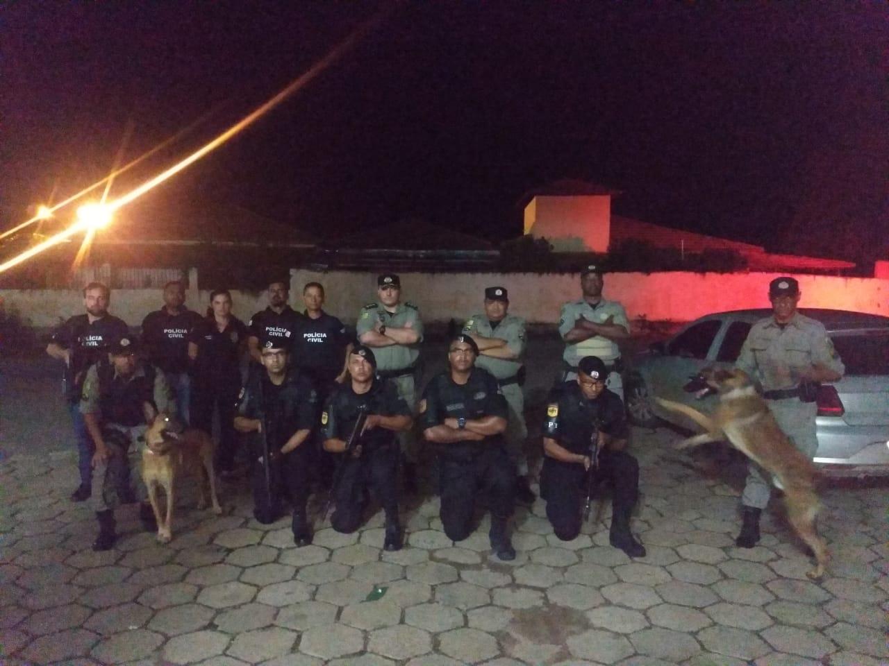 Operação de combate ao tráfico interestadual de drogas reúne polícias do Tocantins e Goiás