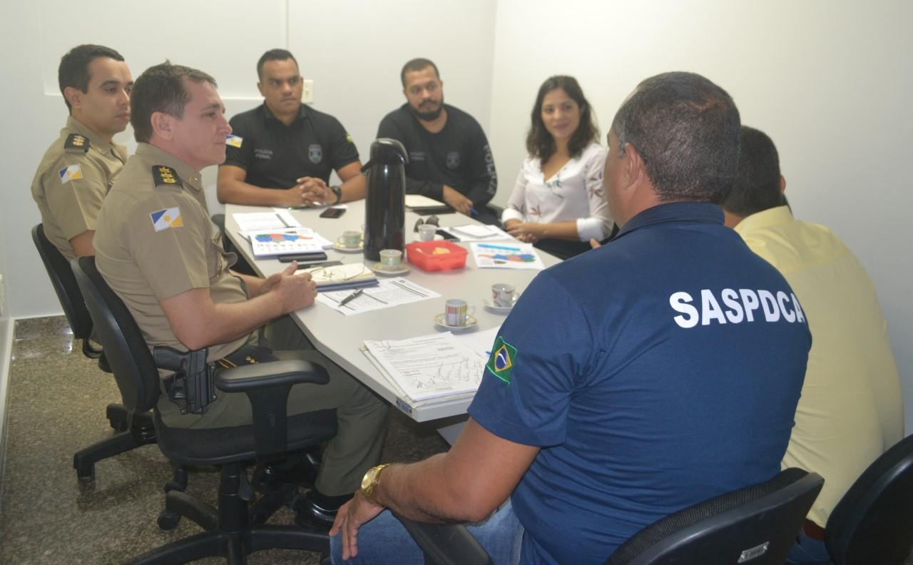 Representantes das forças de segurança do Estado participam de reunião de alinhamento entre as equipes