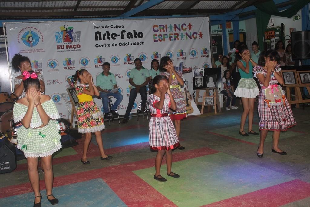 Aulão de artes emociona público na abertura dos projetos culturais da AASJN