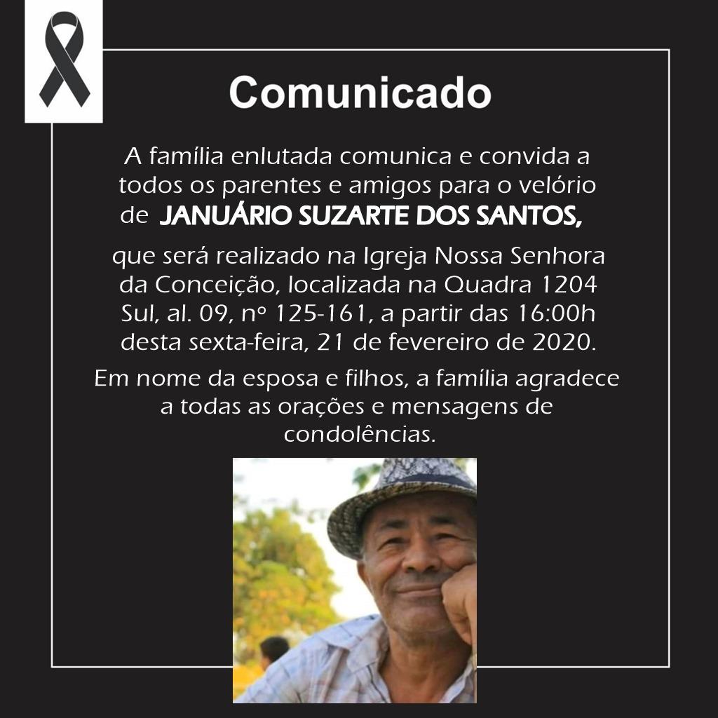 Presidente da Fapt emite nota de pesar pelo falecimento do senhor Januário Suzarte dos Santos