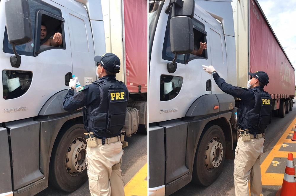 Siga em frente, caminhoneiro: solidariedade é o lema da campanha iniciada pela PRF e parceiros