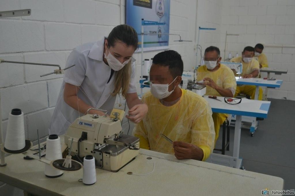 Encarcerados da CPP de Palmas iniciam o treinamento para confecção de máscaras artesanais para prevenção do coronavírus