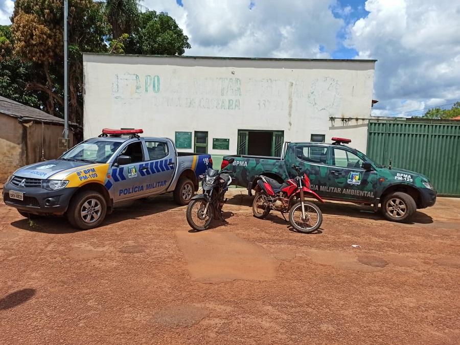 Polícia Militar recupera duas motos roubadas em Caseara