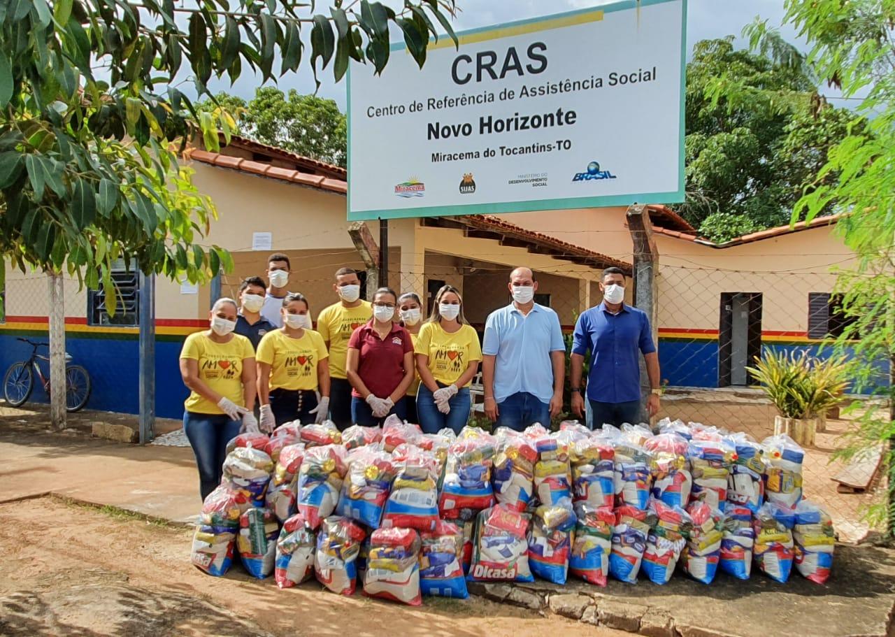 Secretaria de Assistência Social e Setas realizam distribuição de cestas básicas em Miracema