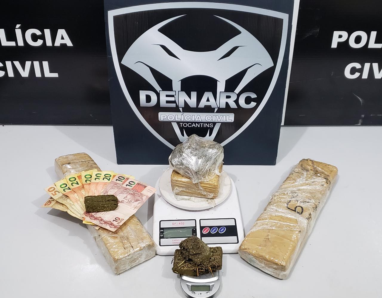 Polícia Civil desarticula ponto de venda de drogas e prende mais um traficante em Palmas