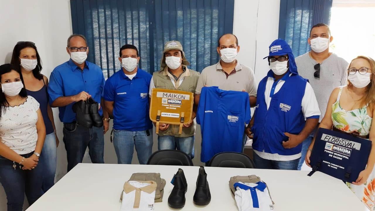 Prefeitura de Miracema entrega uniformes e EPIs aos agentes de saúde, endemias e motoristas