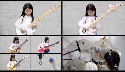Na luta contra ansiedade durante a pandemia, garota de 6 anos toca vários instrumentos e vídeo viraliza; assista