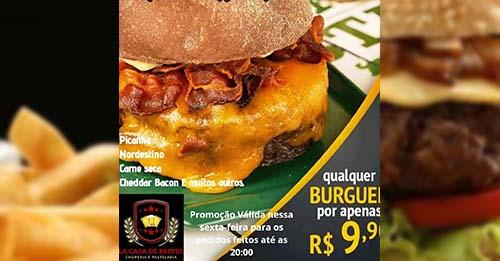 La Casa de Pastel oferece qualquer burguer nesta sexta-feira por apenas R$ 9,90