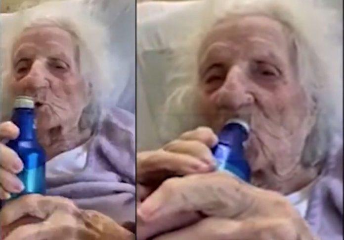 Conheça idosa de 103 que venceu covid e comemorou com cerveja; vídeo