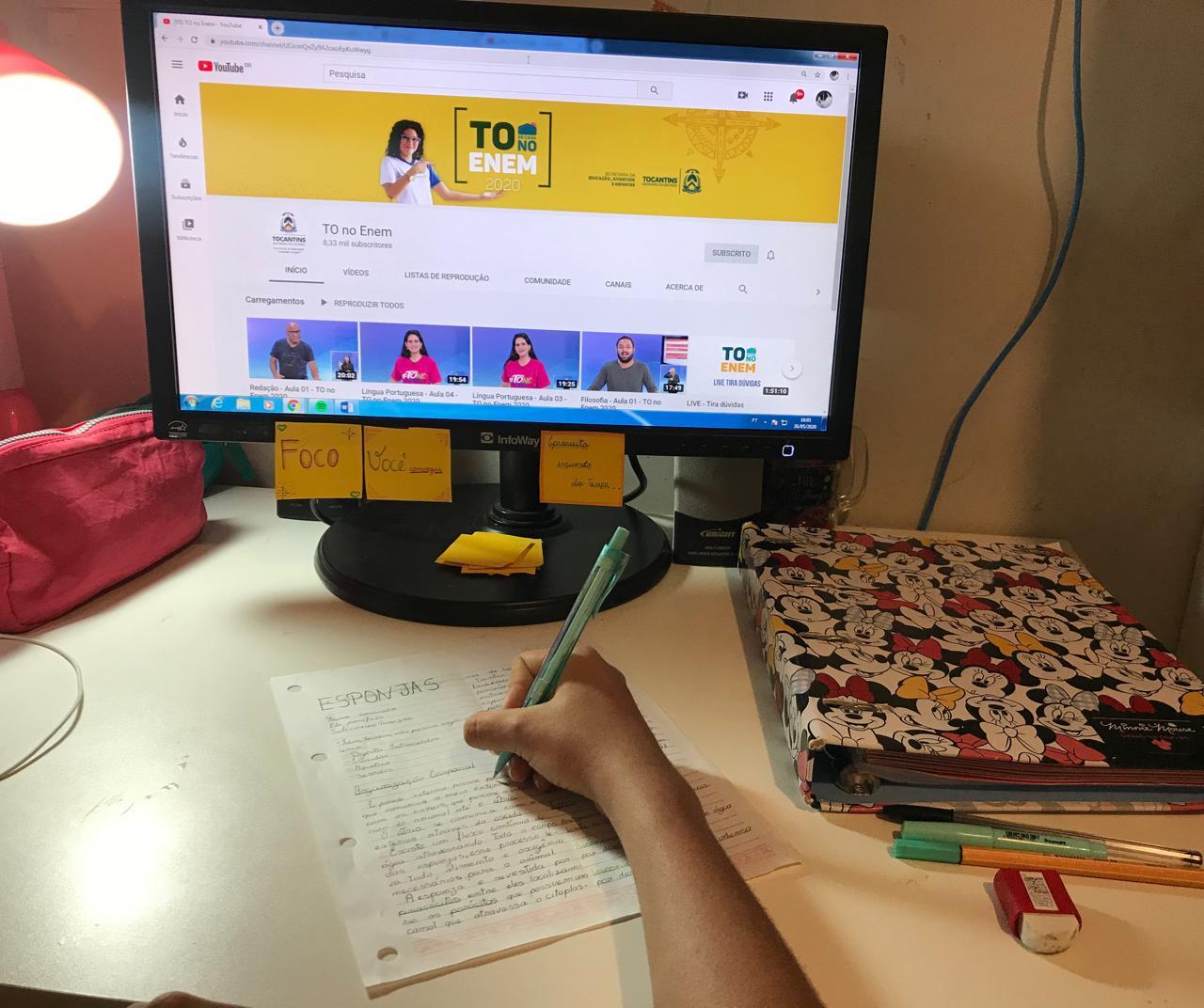 """Mais de 25 mil estudantes se inscrevem na edição 2020 do """"TO de casa NO ENEM"""""""