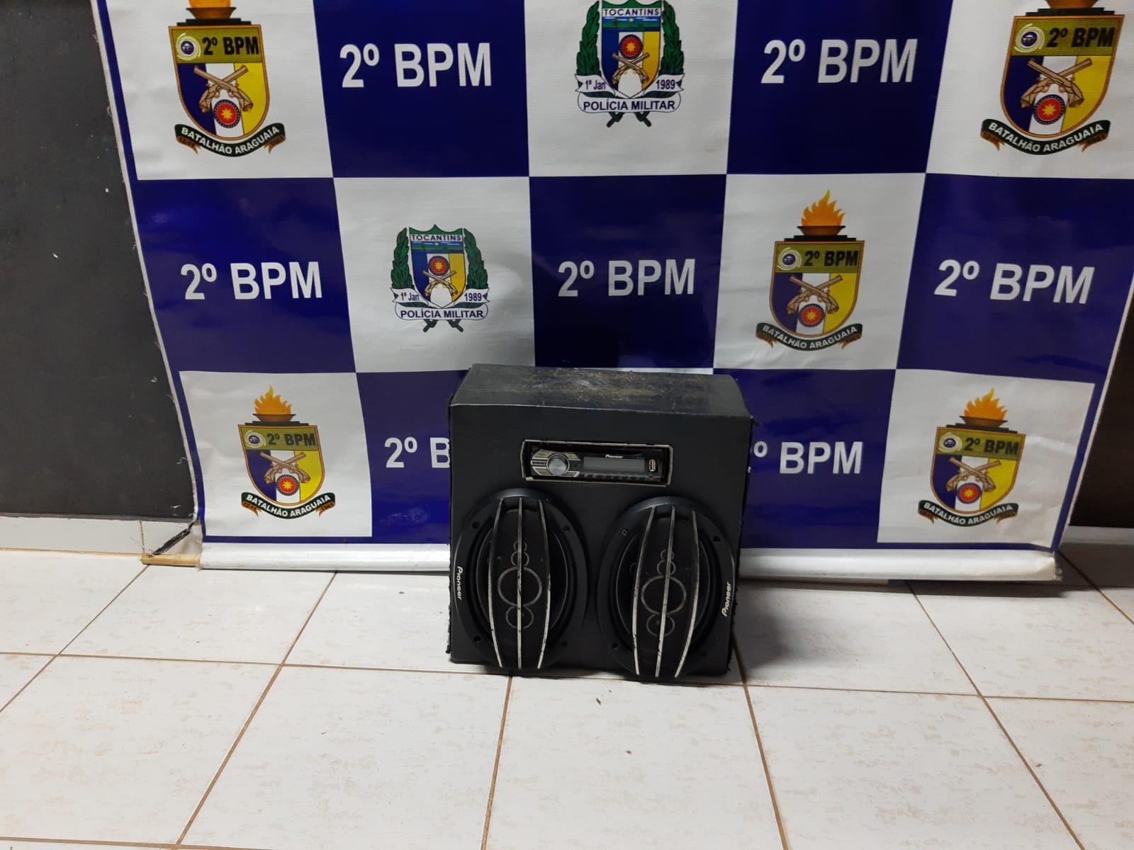 PM apreende duas aparelhagens de som em Araguaína