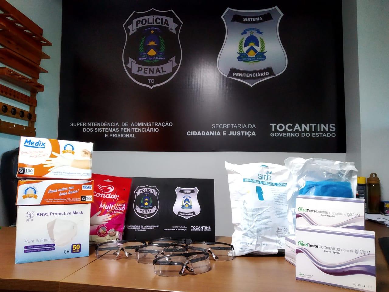 Cidadania e Justiça recebe doação do Departamento Penitenciário Nacional de itens para combater Covid-19 nas unidades prisionais