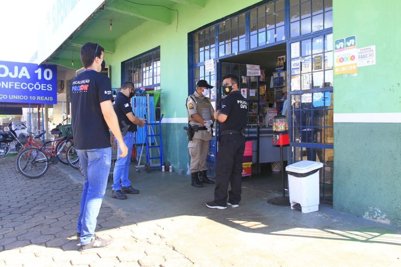 Polícia Civil participa de operação de prevenção à Covid-19 em Palmas, Araguaína e Gurupi
