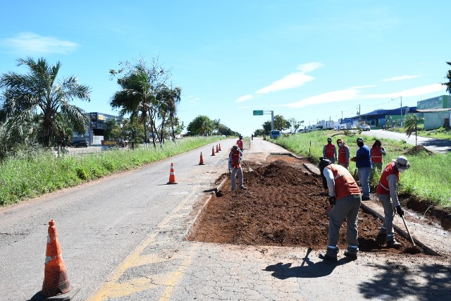 Paraíso é a primeira cidade do Tocantins contemplada com ação de manutenção e recuperação da BR-153